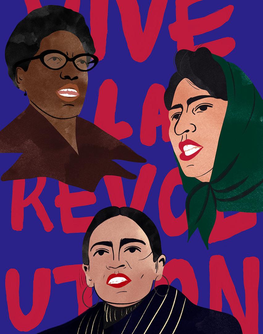 Revolt: Audre Lorde, Meena Keshwar Kamal, Alexandria Ocasio-Cortez by Zarlasht Zia